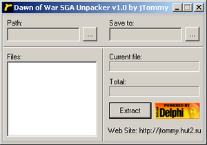 Dawn of War SGA Archives Unpacker