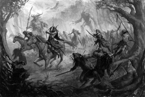Избиение зверолюдов, вторгшихся в лес