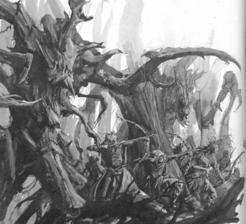 Древесные владыки прикрывают стрелков в бою