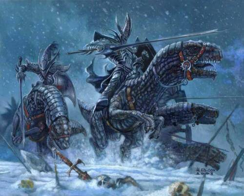 Хладнокровные рыцари – элита темных эльфов.