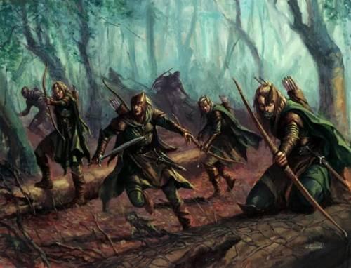 Лесные эльфы в естественной среде обитания
